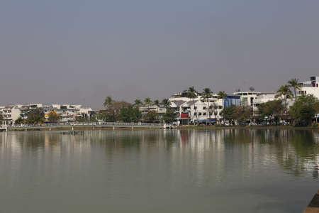 surrounding: The landscape surrounding marshes