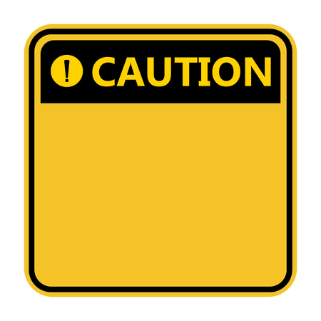 symbol yellow caution sign icon,Exclamation mark ,Warning Dangerous icon on white background Ilustração