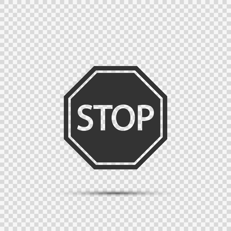 stop sign icons on transparent background