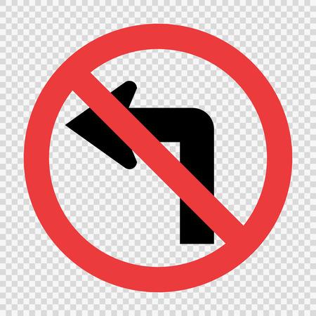 Ne tournez pas le panneau de signalisation à gauche sur fond transparent