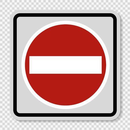 Symbol No entry sign on transparent background