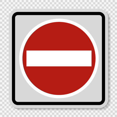 Symbol No entry sign on transparent background