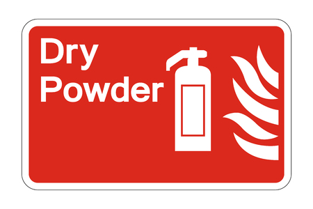 Fire Dry Powder Safety Symbol Sign on white background,vector illustration