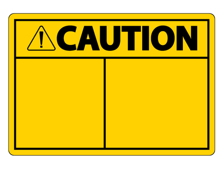 symbol caution sign label on white background Ilustração