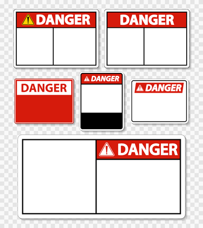 symbol danger sign label on transparent background