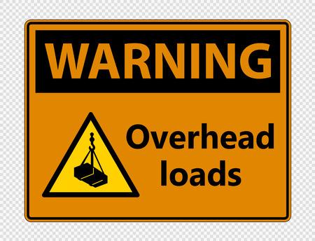 Warnung über Kopflasten Schild auf transparentem Hintergrund