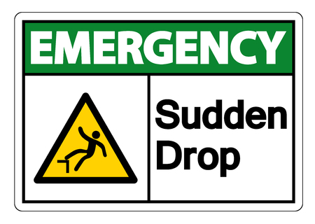 Emergency Sudden Drop Symbol Sign On White Background,Vector illustration 向量圖像