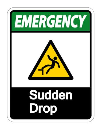 Emergency Sudden Drop Symbol Sign On White Background,Vector illustration Illusztráció