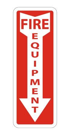 Symbol Fire Equipment Sign on white background,Vector illustration Çizim