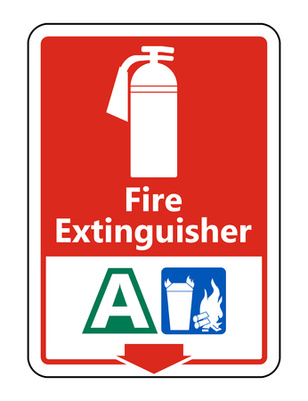 Symbol Fire Extinguisher A Sign on white background,Vector illustration Stock Illustratie
