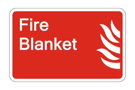 Fire Blanket Safety Symbol Sign on white background,Vector illustration