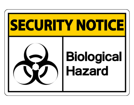 Security notice Biological Hazard Symbol Sign on white background,Vector illustration  イラスト・ベクター素材