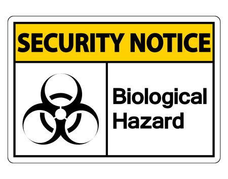 Security notice Biological Hazard Symbol Sign on white background,Vector illustration Illustration