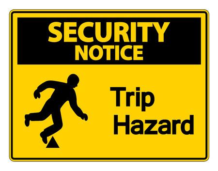 Security notice Trip Hazard Symbol Sign on white background,Vector illustration Stok Fotoğraf - 123922040