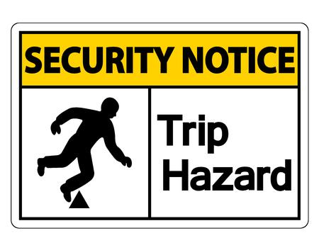 Security notice Trip Hazard Symbol Sign on white background,Vector illustration Stok Fotoğraf - 123922041