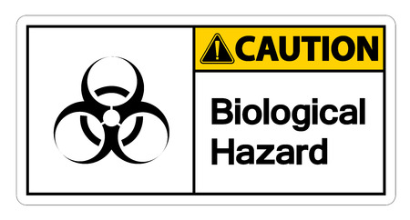 Caution Biological Hazard Symbol Sign on white background,Vector illustration  イラスト・ベクター素材