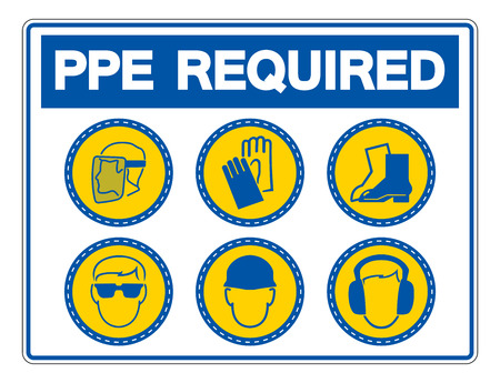 Required Personal Protective Equipment (PPE) Symbol Illustration