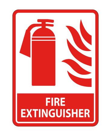 Fire Extinguisher Sign on white background,Vector illustration