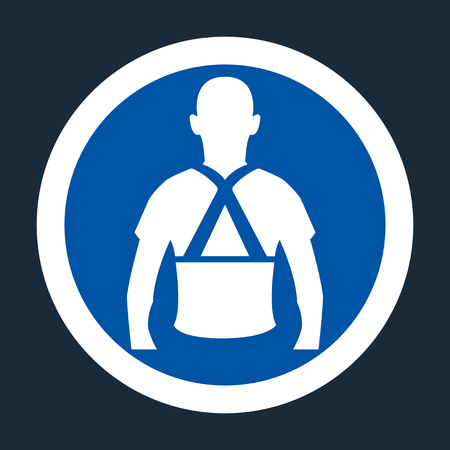 Wear Back Support Symbol Sign On black Background,Vector llustration Ilustración de vector