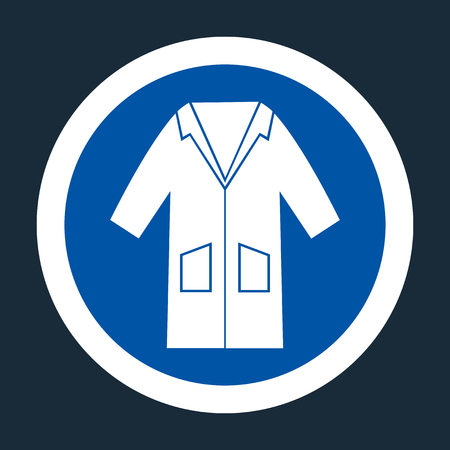 PPE Icon.Wear Smock Symbol Sign On black Background