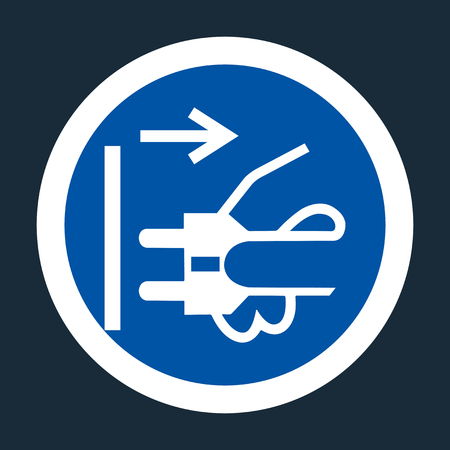 PPE Icon.Disconnect Mains Plug From Electrical Outlet Symbol Sign On black Background On black Background,Vector llustration