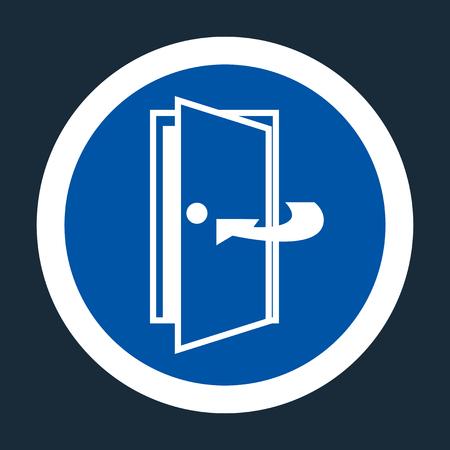 Keep Door Closed Symbol Sign On black Background On black Background,Vector llustration