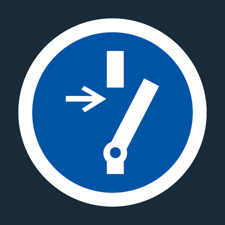 Disconnect Before Carrying Out Maintenance Or Repair Symbol Sign On black Background On black Background,Vector llustration