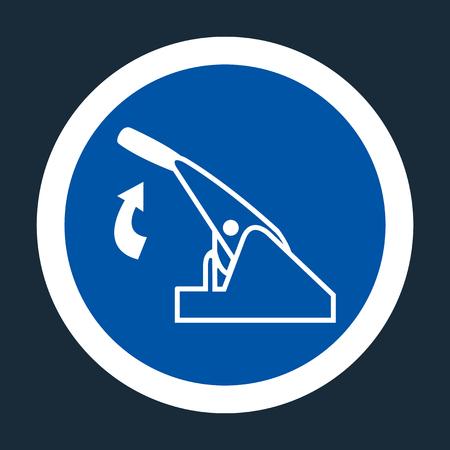 Pull Parking Brake Symbol Sign On black Background On black Background,Vector llustration