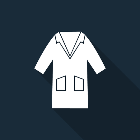 PPE Icon.Wear Smock Symbol Sign Isolate On Black Background