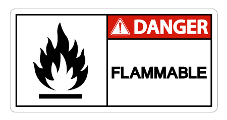 Danger Flammable Symbol Sign Isolate On White Background
