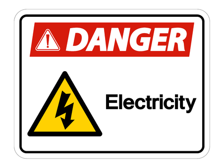 Danger Electricity Symbol Sign Isolate On White Background