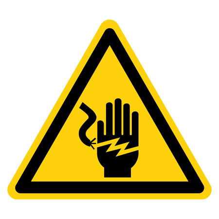 Electrical Shock Electrocution Symbol Sign Isolate On White Background