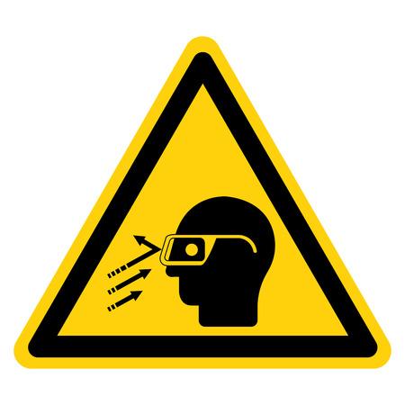 Flying Debris Wear Safety Glasses Symbol Sign Isolate On White Background