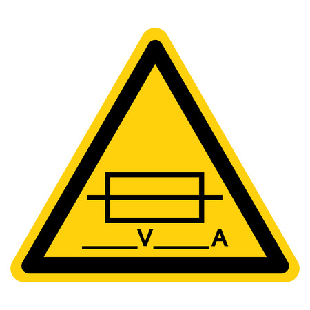 Fuse (Writable) Symbol Sign Isolate On White Background,Vector Illustration
