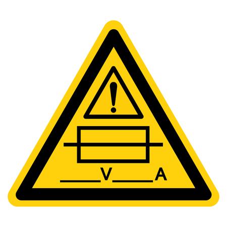 Fuse (Writable) Symbol Sign Isolate On White Background,Vector Illustration Stockfoto - 125898869