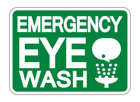 Emergency Eye Wash Sign Isolate On White Background,Vector Illustration