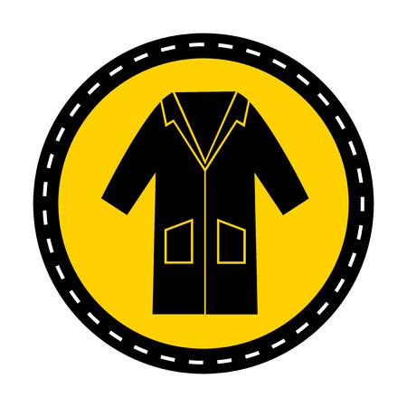 PSA Icon.Wear Smock Symbol Zeichen auf weißem Hintergrund isolieren, Vektor-Illustration Vektorgrafik