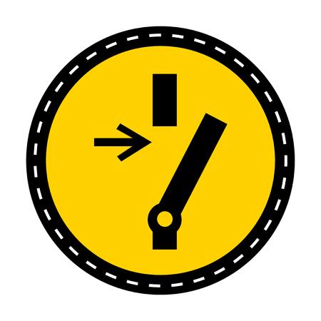 Trennen Sie die Verbindung, bevor Sie eine Wartung oder Reparatur durchführen. Symbolzeichen auf weißem Hintergrund, Vektorillustration isolieren