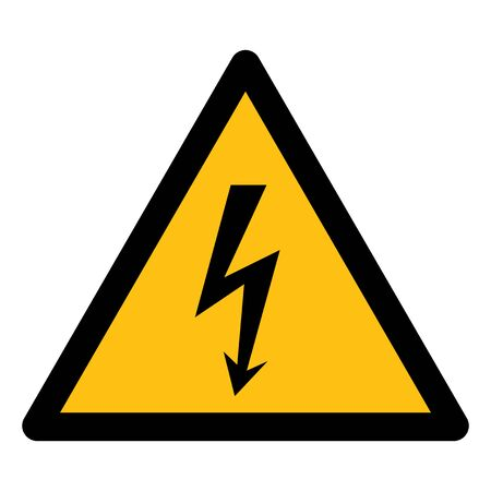 Danger High Voltage Symbol Sign Isolate On White Background,Vector Illustration