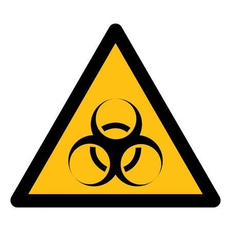 Beware Biological Hazard Symbol Isolate On White Background,Vector Illustration