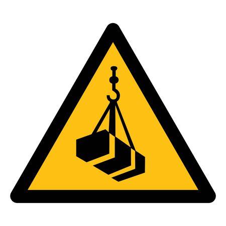 Hüten Sie sich vor Overhead-Last-Symbol auf weißem Hintergrund, Vektor-Illustration zu isolieren Vektorgrafik