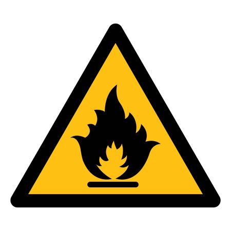 Beware Flammable Gas Symbol Isolate On White Background,Vector Illustration