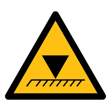 Limit Overhead Height Symbol Sign Isolate On White Background,Vector Illustration