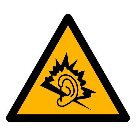 Simbolo di rumore isolato segno su sfondo bianco, illustrazione vettoriale