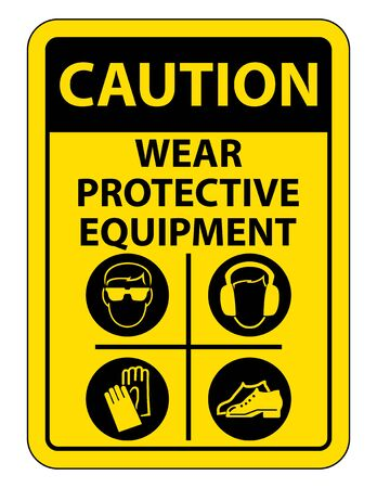 Personal Protective Equipment (PPE) Isolate On White Background,Vector Illustration EPS.10