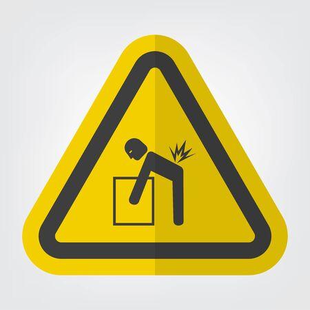 Signe de symbole de danger de levage isoler sur fond blanc, illustration vectorielle EPS.10 Vecteurs