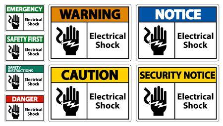 Electrical Shock Electrocution Symbol Sign, Vector Illustration, Isolate On White Background Label .EPS10 Illustration