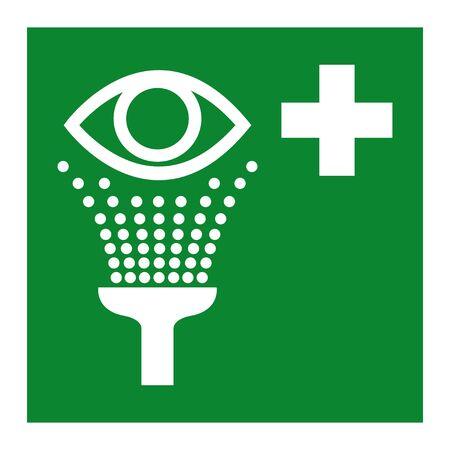 Isoler le symbole de la station de lavage oculaire sur fond blanc, illustration vectorielle EPS.10 Vecteurs