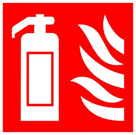 Isoler le signe du symbole de l'extincteur sur fond blanc, illustration vectorielle EPS.10