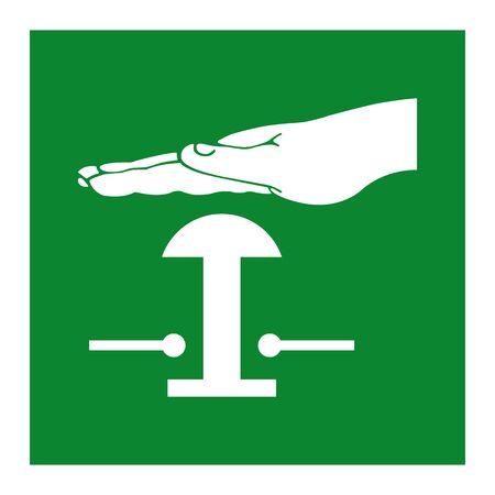 Emergency Stop Push Button Symbol Isolate On White Background,Vector Illustration EPS.10